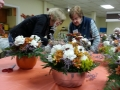 Sandi and Lorraine work on an arrangement, FUN!!